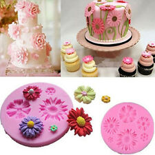 Flower Sunflower Silicone Mould Fondant Chocolate Cupcake Cake Cookie Decoration