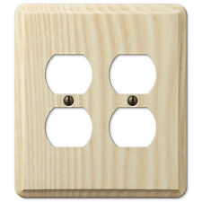 DOUBLE DUPLEX UNFINISHED ASH WOOD SWITCHPLATE WALLPLATE: PAINT OR STAIN