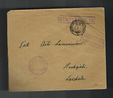 1940 Finland Army soldier Feldpost Cover to Laukala Kentiposta