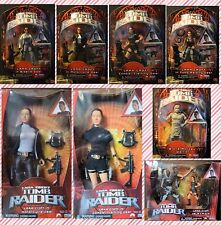 Tomb Raider Lara Croft Angelina Jolie Barbie Doll Action Figure Set Lot of 8