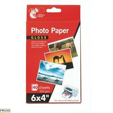 "6 x 4"" GLOSS 40 Sheets Photo Paper 235 gsm Inkjet Printer Photo Paper Colour"