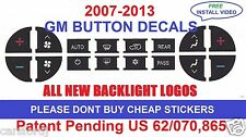 2007-2013 GMC Yukon SLT AC Climate Control Button Decals Repair Set