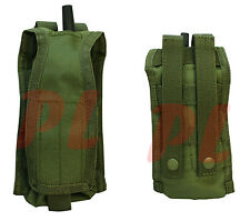 Molle Pals Radio Pouch Walkie Talkie Radio Antenna Carrier Pouch L or R-OD GREEN