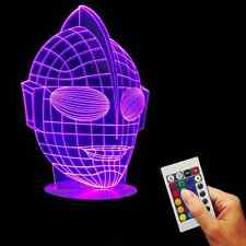 3D Acrylic USB Color Changing Ultraman Visual Lamp LED Desk Bulbing Night Light