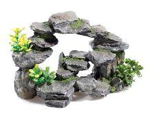 Rocky Gewölbe Aufschluss mit Pflanzen Aquarium oder Terrarium Fels Deko