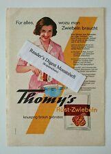 Werbeanzeige/advertisement A5: Thomy's Röst-Zwiebeln 1963 (190716102)