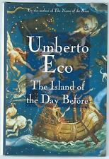 The Island Of The Day Before Umberto Eco Harcourt Brace US First Edition Good+