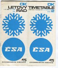 CSA CZECHOSLOVAK AIRLINES TIMETABLE WINTER 1968-69 CZECH OK