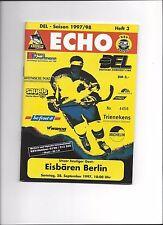 DEL Programm: KREFELD PINGUINE - EISBÄREN BERLIN, 28.09.1997, Eishockey 97/98