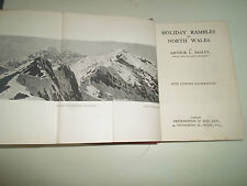 Vintage Illustrated Book C.1920s HOLIDAY RAMBLES IN NORTH WALES Arthur L  Bagley