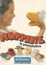X0686 Moppine le pantofoline - De Fonseca - Pubblicità del 1985 - Vintage advert