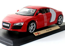 Maisto Audi R8 1:18 Diecast Model Car Red New
