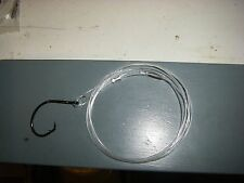 2 metre 100 lb flurocarbon livebait trace with 9/0  eagle claw  hook pack of 2