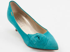 New  Loriblu Turquoise Suede Leather Pumps Size 37 US 7
