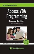Access VBA Programming, Vibrant Publishers