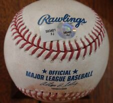 2011 Dodgers / Mets Game Used Baseball - Manny Acosta Strikeout of Andre Ethier