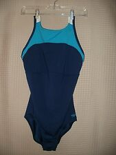 FREE SHIP' Women SPEEDO Fitness Sports Bra Multi color Swimwear 1 piece Size 12