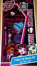 MONSTER HIGH Freaky Fab Beauty Set Lips Nails And Eyes  SET NEW