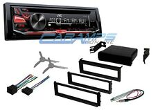 NEW JVC CAR STEREO RADIO RECEIVER DECK W/ AUX INPUT & COMPLETE INSTALLATION KIT