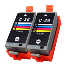2 pack Color ink cartridge CLI-36 for Canon PIXMA ip100 mini260 mini320 CLI36
