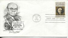 1970 AMERICAN POETS SERIES EDGAR LEE MASTERS ARTMASTER CACHET UNADDRESSED FDC