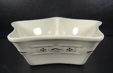 Longaberger Woven Traditions Red Large Star Bowl USA