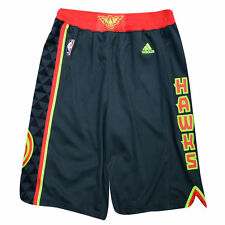 Atlanta Hawks Adidas Black Alternate Swingman Performance Shorts L
