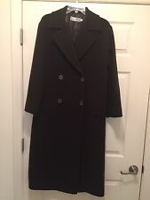 Mila Schon Made In Italy Double Breasted Camels Hair Coat SZ US 6 Brown