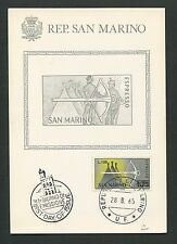 San MARINO MK 1965 Mauro arma Crossbow Maximum cartolina MAXIMUM CARD MC cm d7374