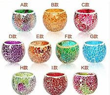new1pcs Mosaic Glass Candle holders Tealight Votive holder for wedding Home deco