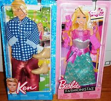 Barbie & Ken/MATTEL FASHIONISTAS Fashions/7 PIECES IN ALL/Mint/NEW/N8329&N8328