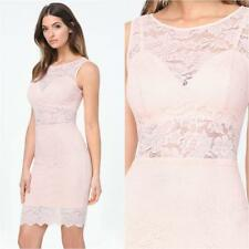 BEBE PALE BLUSH LACE MIDI BRALETTE DRESS NEW NWT $139 XXSMALL XXS