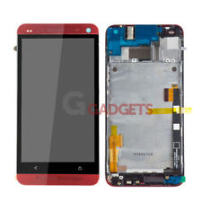 New For HTC One M7 801e Red LCD Display Touch Screen Digitizer +Frame Assembly