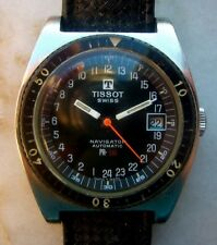VINTAGE  WATCH AUTOMATIC TISSOT NAVIGATOR 24 HOURS PR 516