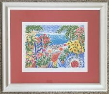 "MINT! Cathi Whiting ""Cavello"" SIGNED FINE ART Serigraph floral Artwork UK Artist"