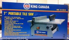 "King Canada Tools KC-3003N 7"" PORTABLE TILE SAW Scie à Céramique Portative 7"""