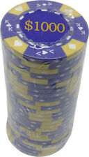 Poker Chips (25) $1000 Ace King Denomination 14 g Clay Composite FREE SHIPPING *