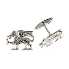 925 Sterling Silver Welsh Dragon Cufflinks 20 x 15mm & Box NEW
