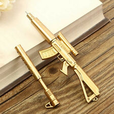 Creative Novelty Cool Gold Rifle Shape Design Black Ink Ballpoint Pen Stationery