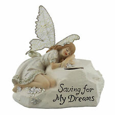 Saving for my Dreams Beautiful Sleeping Fairy Money Box Ornament REDUCED