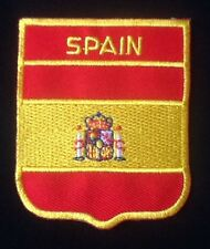 SPAIN SPAINISH ESPANA NATIONAL COUNTRY FLAG BADGE IRON SEW ON PATCH CREST SHIELD