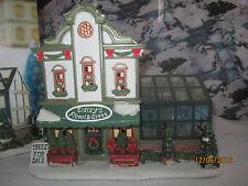 "TRAIN VILLAGE "" ST.NICHOLAS SQUARE DAISY'S GREEN HOUSE "" +DEPT 56/LEMAX info"