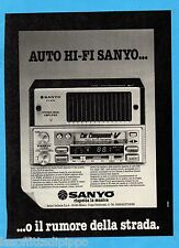 QUATTROR980-PUBBLICITA'/ADVERTISING-1980- SANYO FT-A10 - AUTO HI-FI