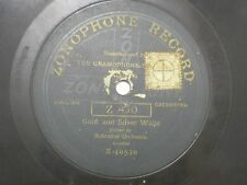 "THE PEERLESS ORCHESTRA X 40599  RARE 78 RPM RECORD 10"" GREEN VG-"