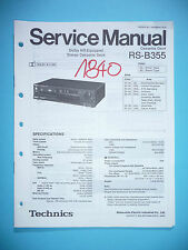Service Manual For Technics RS-B355 Tape Deck ,ORIGINAL