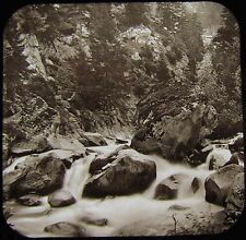 Glass Magic Lantern Slide ON THE REUSS ST GOTHARD C1890 PHOTO SWITZERLAND