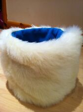 CHIHUAHUA DOG PET BED CREAM BLUE FAUX FUR PUPPY POCKET SNUGGLE SACK