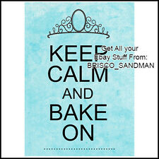 "Fridge Fun Refrigerator Magnet ""Keep Calm and Bake On"" Cooking Kitchen Love"