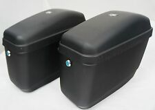 Mutazu Matte Black Universal Motorcycle Hard Saddlebags fits most Cruisers