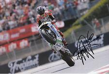 Stefan Bradl mano firmado LCR Honda 12x8 Foto 2014 de MotoGP.